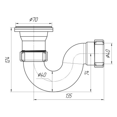 Сифон для душ поддона Ани Е 110
