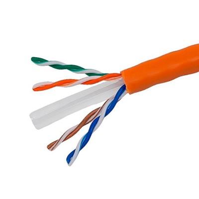 Интернет кабель FTP  4(8) медь Оранж