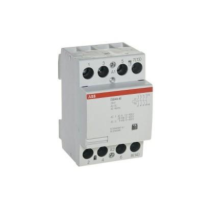 Модульный контактор АВВ ESB 40 (25А АС-1, 4НО)