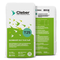 Наливной пол Толстый Cleber T25 25кг
