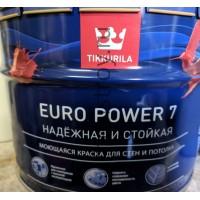 Краска TIKKURILA Euro power 7  9 л.